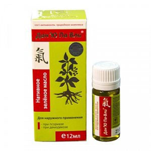 Масло зелёное нативное Дан'Ю Па-Вли при псориазе сашера мед