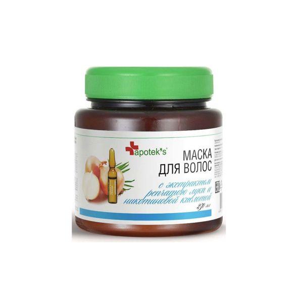 Apothek's Маска для волос с экстрактом репчатого лука и никотиновой кислотой, 250 мл.