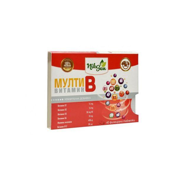 """Витаминный мульти """"B"""" комплекс 40 таблеток"""