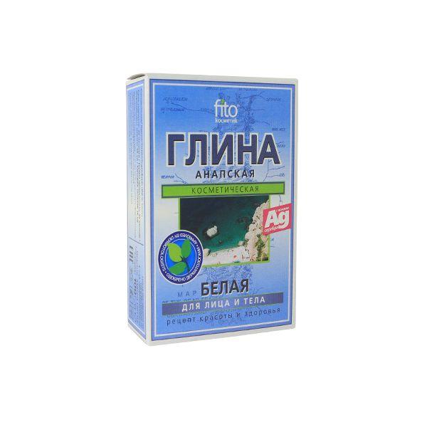 "Глина ""Анапская"" 100г лечебно-косметическая белая,для лица и тела Фитокосметика"