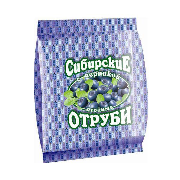 Сибирские Отруби пшеничные с черникой