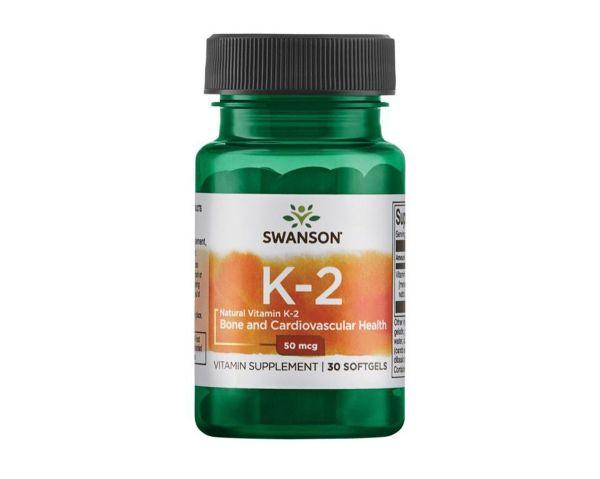 Натуральный витамин К2, 30 желатиновые капсулы