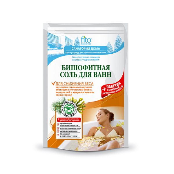 Бишоофитная соль для ванн 530г Для снижения веса фитокосметика