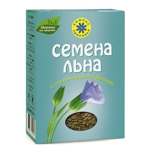 Семена льна с селеном хромом и кремнием компас здоровья