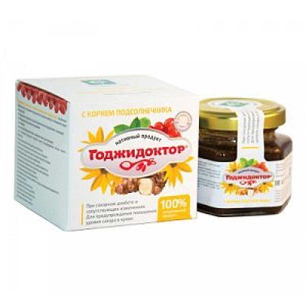 Годжидоктор нативный с корнем подсолнечника клубненосного при сахарном диабете сашера-мед