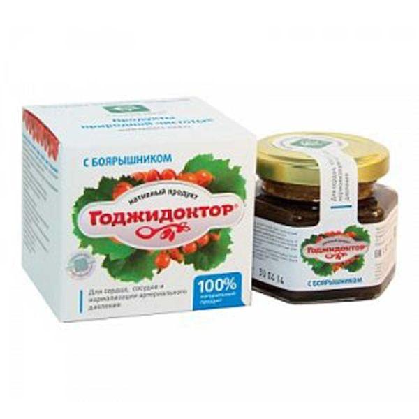 Годжидоктор Нативный экстракт плодов годжи с боярышником для сердечно-сосудистой системы сашера-мед