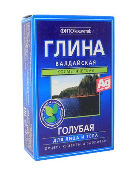 """Глина """"Валдайская"""" 100г лечебно-косметическая голубая для лица и тела Фитокосметика"""