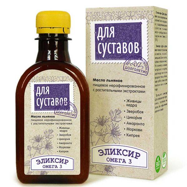 Льняное масло Эликсир для суставов