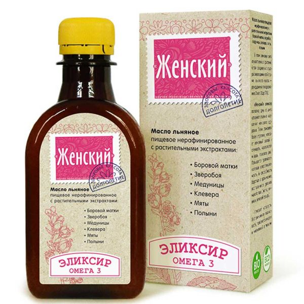 Масло льняное Женский Элексир компас здоровья