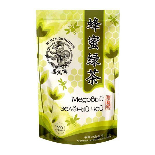 Медовый зеленый чай чёрный дракон