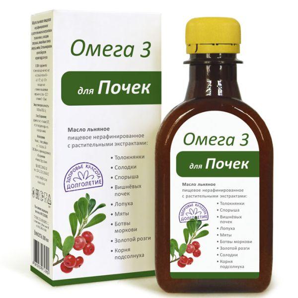 Масло льняное Компаса Здоровья Омега-3 Для Почек