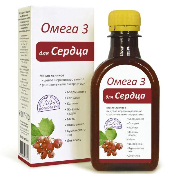 Масло льняное «Компаса Здоровья Омега-3 Для Сердца