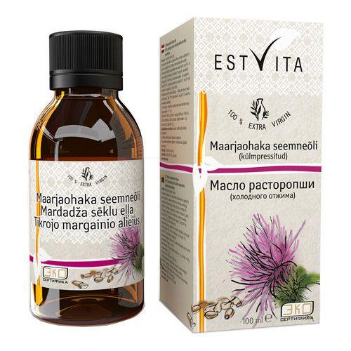 Расторопша масло первый холодный отжим, нерафинированное Estvita