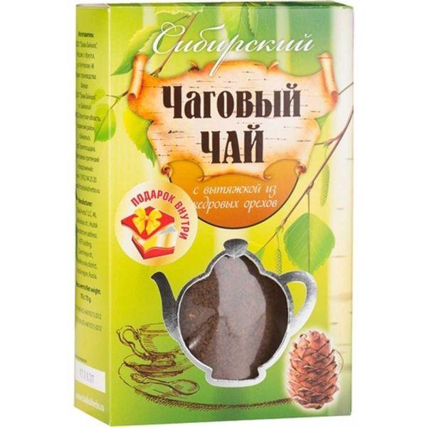 Сибирский чаговый чай с вытяжкой из кедровых орехов